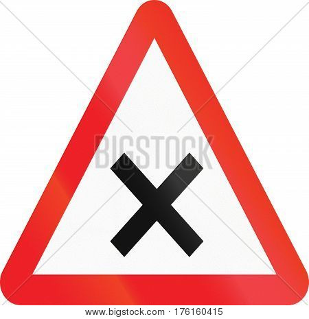 Cyprian Regulatory Road Sign - Crossroads With Right-of-way