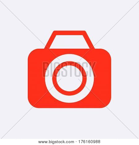 camera icon stock vector illustration flat design