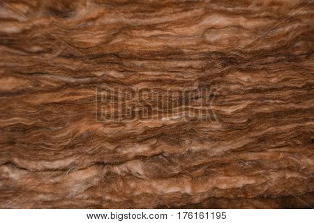 cut of wool thermal insulation from rock