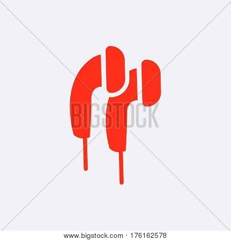 Headphones icon stock vector illustration flat design