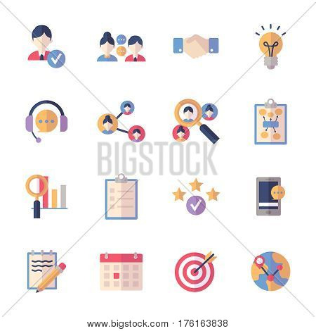 Social Media Icons Set 2 - Flat Series
