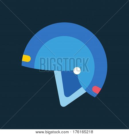 Snowboard sport helmet element. Snowboarding helmet isolated on background. Snowboard vector helmet, snowboard helmet, snowboard safety tool. Winter sport equipment.