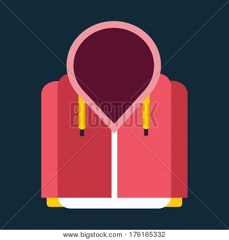 Snowboard sport clothes jacket design element. Snowboarding jacket element isolated on background. Snowboard vector cloth, snowboard jacket, snowboard board. Winter sport equipment.
