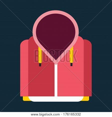 Snowboard sport clothes jacket design element. Snowboarding jacket element isolated on background. Snowboard vector cloth, snowboard jacket, snowboard board. Winter sport equipment.