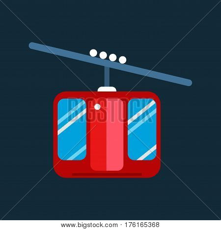Snowboarder sitting in ski gondola and lift elevators Winter sport resort background. Snowboard people rest. Snowboarder lifting. Special snowboard elevators.