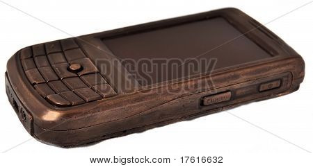 Mobile phone cellphone made of chocolate