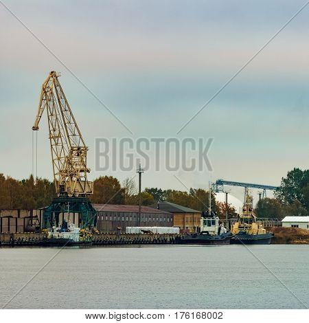 Tug Ships Moored