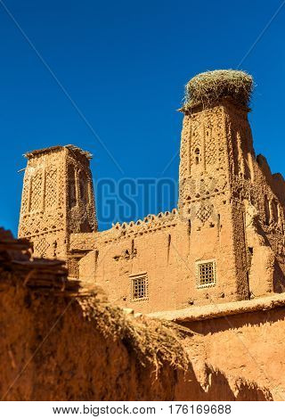 Kasbah in Bou Tharar village - Morocco, the Valley of Roses