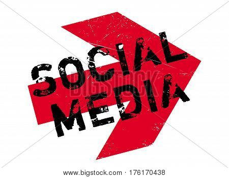 Social media stamp. Grunge design with dust scratches. Effects can be easily removed for a clean, crisp look. Color is easily changed.