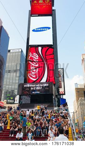 Times Square Is An Iconic Street Of New York City