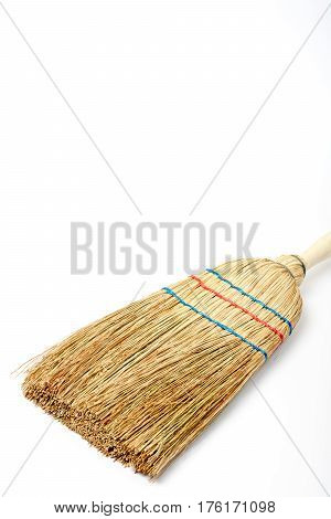 Wattle Broom Isolated Over White Background