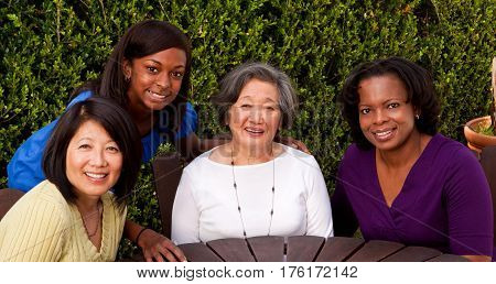 Multi cultural and generational women. Role models.