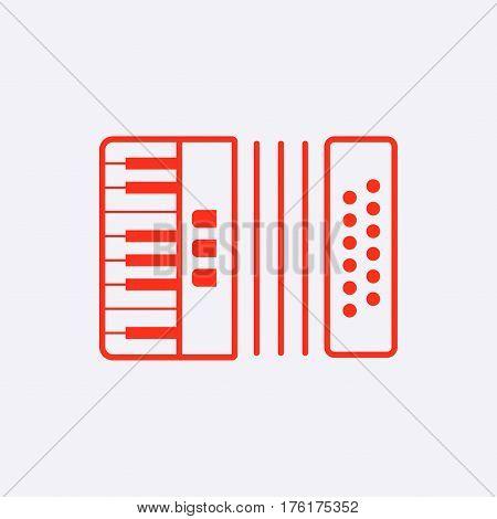 accordion icon stock vector illustration flat design