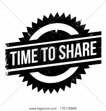 Time to share stamp. Grunge design with dust scratches. Effects can be easily removed for a clean, crisp look. Color is easily changed.