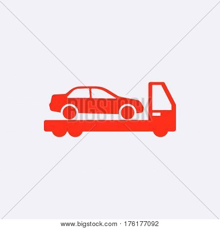 tow truck icon stock vector illustration flat design