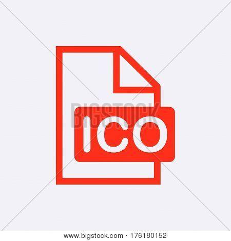ico icon stock vector illustration flat design