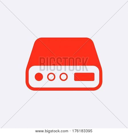 hard drive icon stock vector illustration flat design