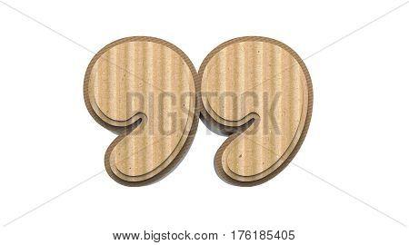 Corrugated Quotation Mark