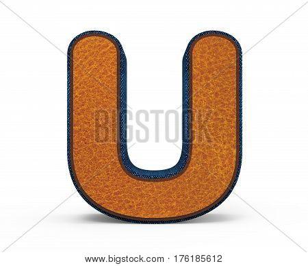 Brown Letter U