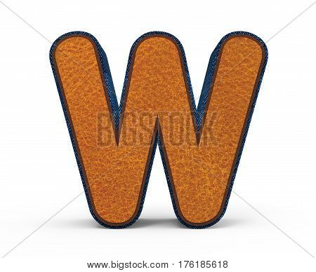 Brown Letter W