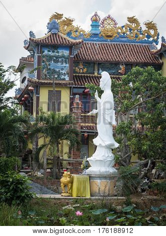 Traditional Temple In Hoi An, Vietnam