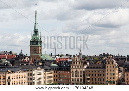 View over the rooftops of Stockholm, Sweden