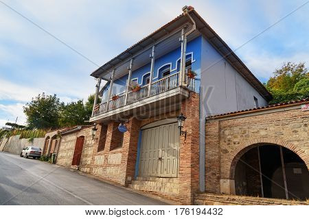 Building Of Guesthouse In Signagi Or Sighnaghi City. Georgia