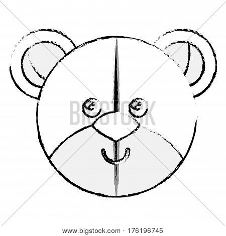 cute teddy plush doll icon vector illustration design