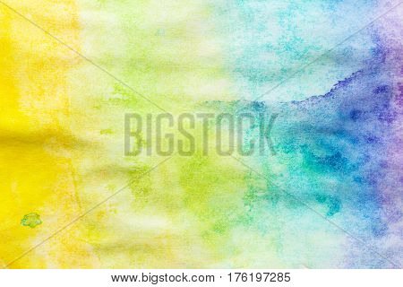 Hand painted abstract colorful watercolor background texture