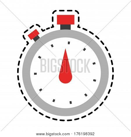 analog chronometer icon image vector illustration design