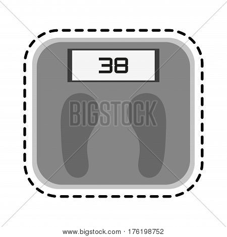 weight scale health icon image vector illustration design