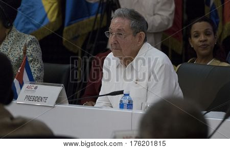 Havana, Cuba. March 10Th 2017 - Cuban President Raul Castro At The Opening Of The 22Nd Meeting Of Th