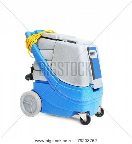 Professional equipment for dry cleaning on white background