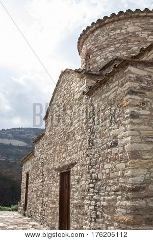 KATO LEFKARA CYPRUS - FEBRUARY 09 2017: Church of Archangel Michael