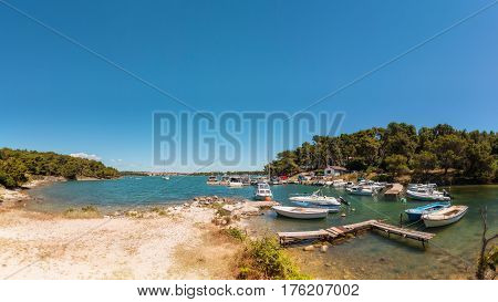 Ships in Marina at Cove Runke, Istria, Croatia