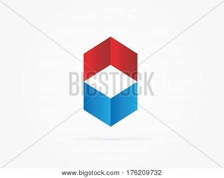 Vector Illustration NV Chevron logo Red Blue