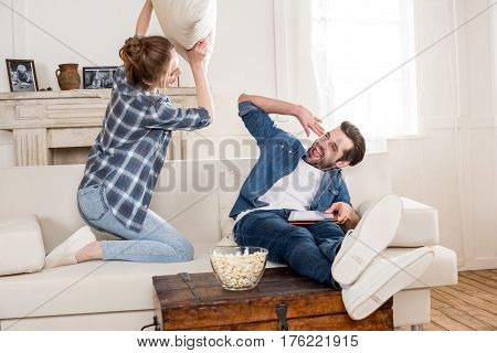 Couple Fooling Around