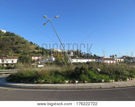 Leaning Lamp Post