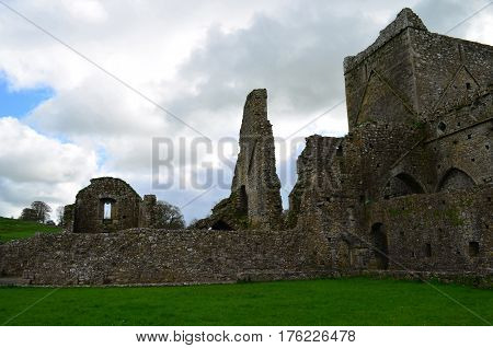Ruins remaining from old Hore Abbey in Ireland.