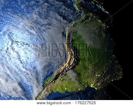 South America On Earth - Visible Ocean Floor