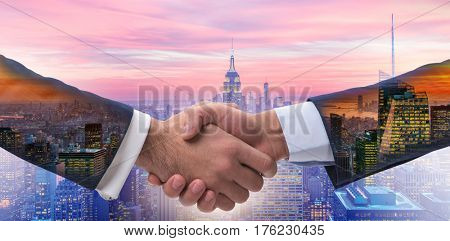Handshake concept  - business metaphor illustration