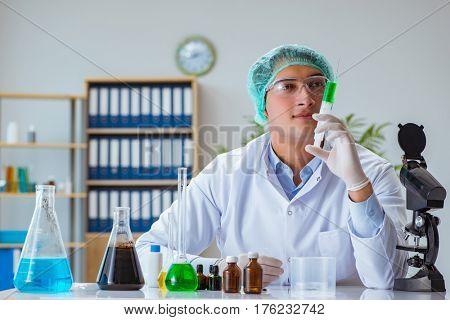 Biotechnology scientist working in the lab