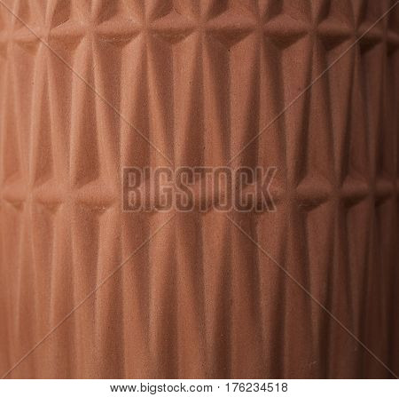 Clay texture and pattern. Clay ceramic background. Closeup view of handmade clay texture, pattern and background. Abstract background and texture for designers.
