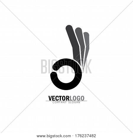 Ok Symbol Or Approval Icon With Human Hand - Concept Vector