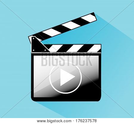 Clapper board vector illustration art flat style