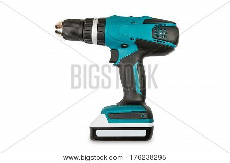 Teal Color Cordless Combi Drill