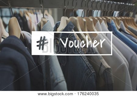 Sale Discount Voucher Hashtag Word