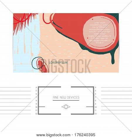 abstract expressive web banner in neo-grunge style, hand drawn textures and design elements, popular horizontal web size