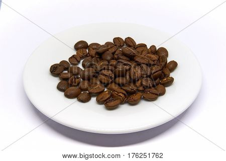 arabica Coffee Beans isolated on white background