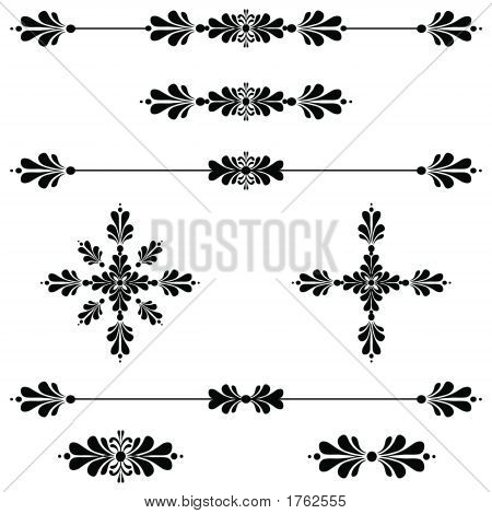 Bar Decoration Ornamental Line Scroll Art 34